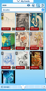 Topps Disney Collect Through the Decades complete 10 card set with Mickey AWARD