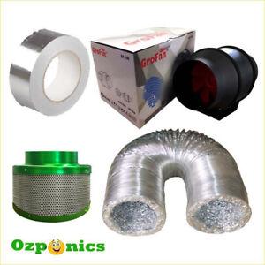 HYDROPONICS-4-INCH-GROFAN-DUCTING-FILTAROO-FILTER-TAPE-Ventilation-Kit