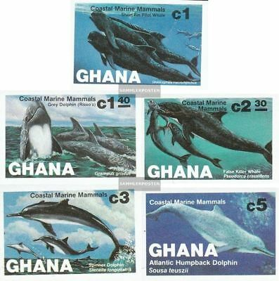 complete.issue. Never Hinged 1983 Whales Hearty Ghana 977b-981b Unmounted Mint