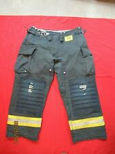 Morning Pride Fire Fighter Turnout Pants 42 X 30 Black Bunker Gear Rescue