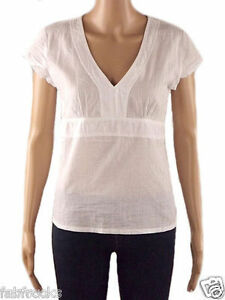 NEW-WHITE-STUFF-LADIES-SUMMER-TUNIC-SHIRT-BLOUSE-TOP-SIZE-12-FITTED-OFFICE