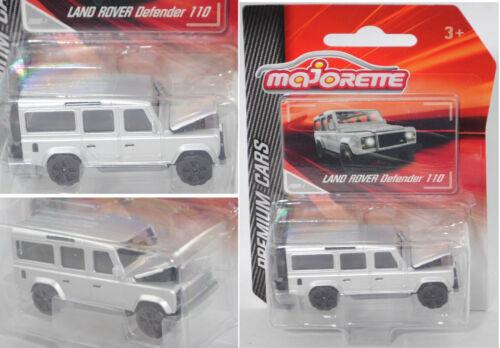 Majorette 212053052Q11 Land Rover Defender 110 County weißalu Premium Cars