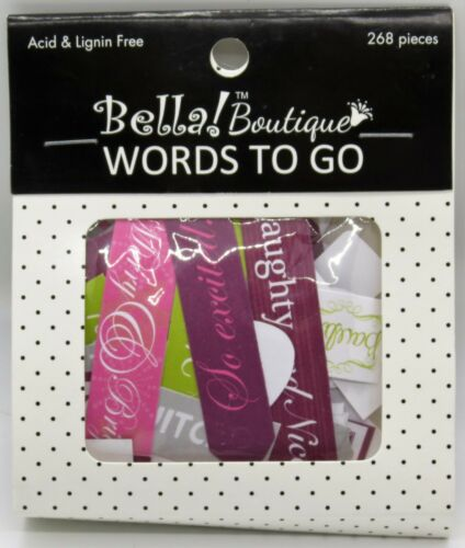 Boutique Christmas Words To Go 268 Pieces Bella
