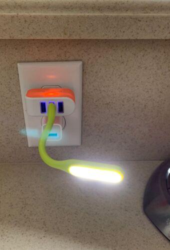 Pkg de 3 DEL Twist Stick Lumières Ordinateur Portable Ou utilisation W port USB jaune