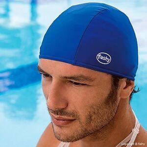 Adult-Fabric-Swim-Hat-Cap-Blue-Royal-Blue-Black-or-older-children