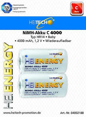 HEITECH HEI ENERGY NiMH Akku Mono//D//HR20 4000 mAh 2er Blister