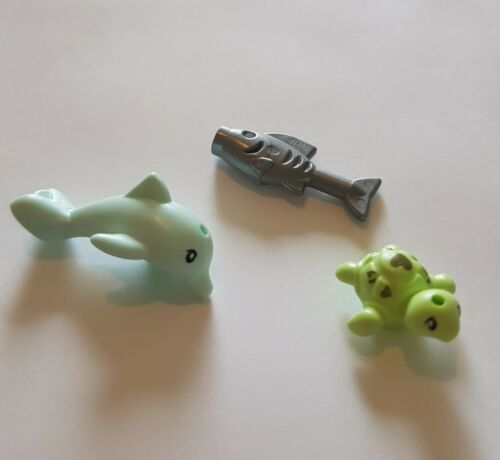 Lego City Animals Cute Baby Dolphin Baby Turtle Silver Fish Animals New