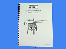 Jet Jwts 10jf Table Saw Operator Instruction Amp Parts Manual 174
