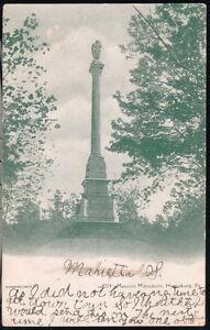 HARRISBURG-PA-Mexican-Monument-Antique-1907-Postcard-Old-Vtg-Pennsylvania-PC