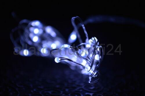 20-40 Drahtlichterkette Micro LED Lichterkette Weihnachten weiß Beleuchtung