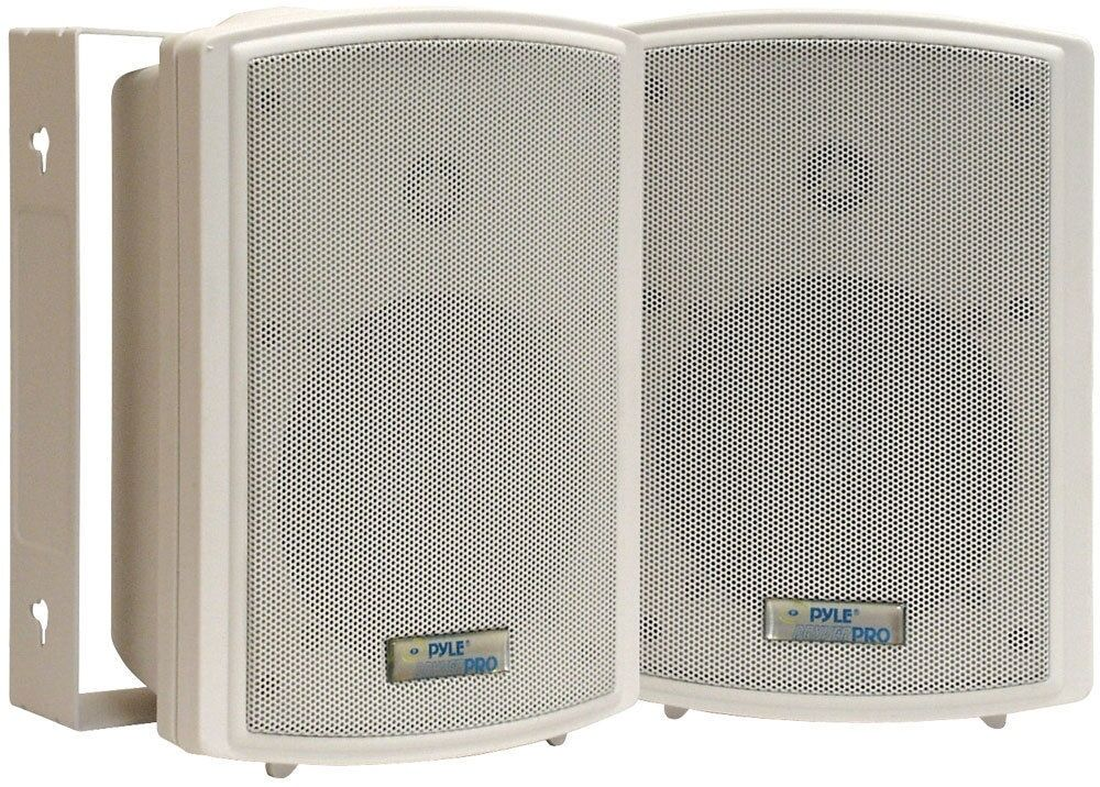 Pyle PDWR5T 5.25'' Indoor Outdoor Waterproof Speaker pair w 30 W 70V Transformer
