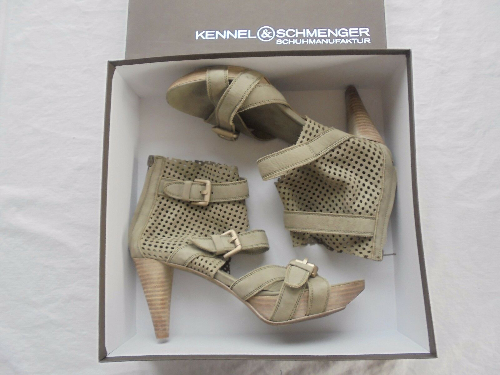 KENNEL & SCHMENGER Leder Taupe High Heels NP  TOP + OVP K&S Pumps Schuhe 39
