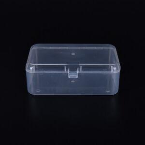 petite bo te de rangement en plastique transparente claire affichage polyvalent ebay. Black Bedroom Furniture Sets. Home Design Ideas