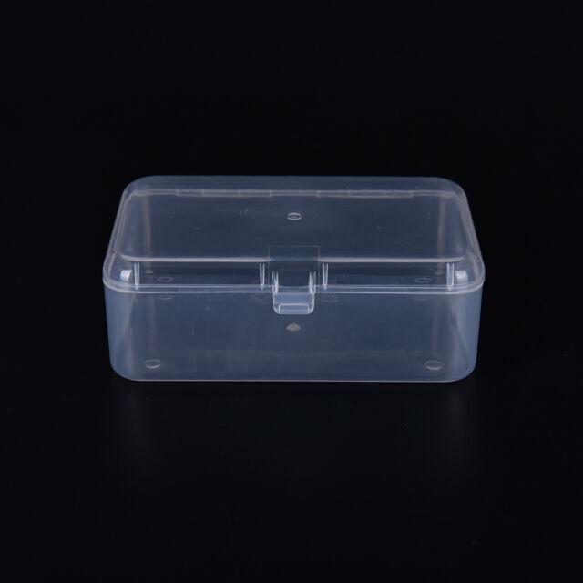New Small Transparent Plastic Storage Box clear Square Multipurpose display STMR