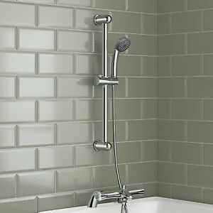 Bath Shower Mixer Thermostatic Valve Tap Dual Round Over Head ...