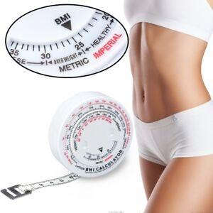 Fitness Einziehbare Maßband & Taschenrechner für Diät Gewichtsverlus