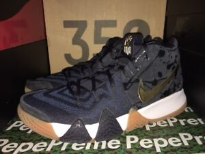 216e31962090 NIKE KYRIE 4 PITCH BLUE METALLIC GOLD 943806 403 NEW LUCKY CHARMS