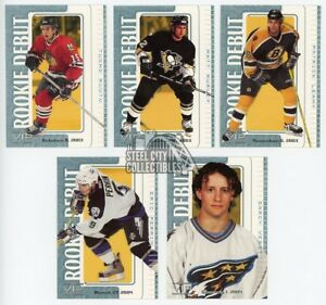 146ct-Lot-2003-04-In-The-Game-VIP-Rookie-Debut-Hockey-Cards