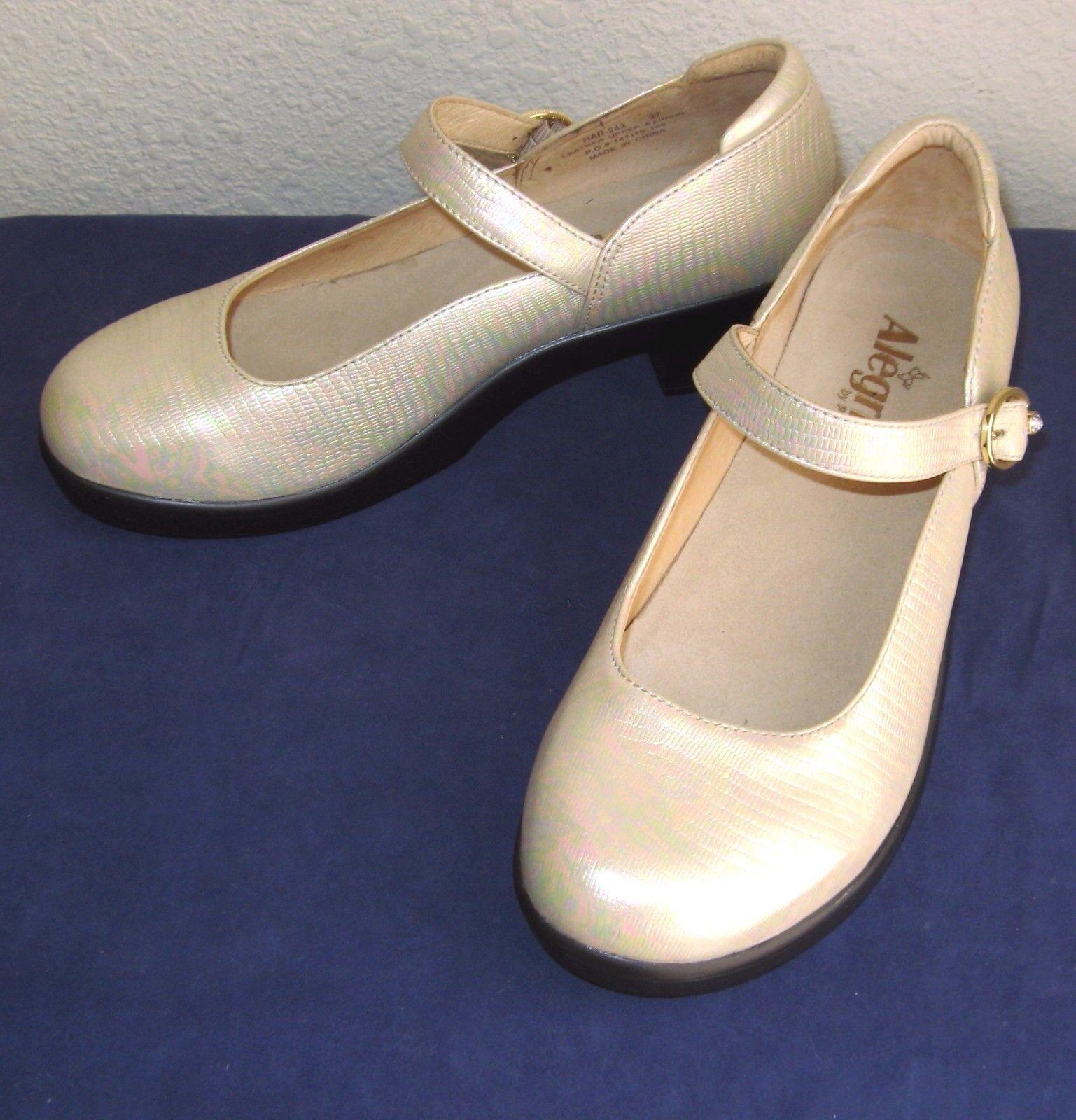 New Alegria  PG Lite Sz EU 37 US 6.5  Harper  Abalone Mary Jane Style shoes  C4
