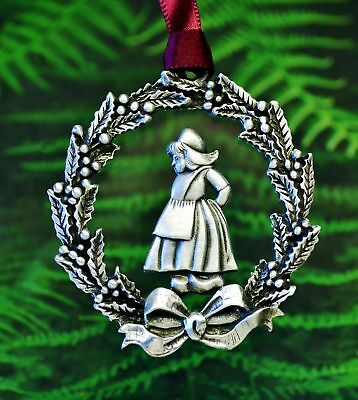 Cowboy Western Christmas OrnamentRodeo DecorationsFine Pewter Made in USA