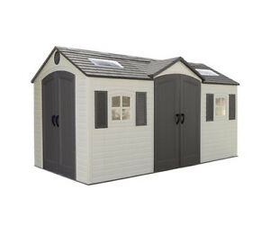 15x8 plastic outdoor storage shed w double doors model 60079 ebay