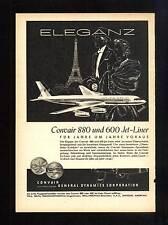 3w106/ Alte Reklame - ca. 1960 - CONVAIR 880 und 600 Jet-Liner