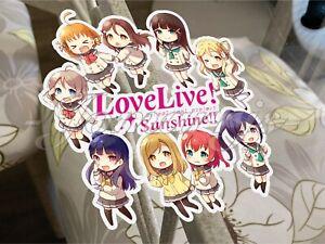 "#3595 School Girls Love Live Sunshine Japan Manga Anime 3x4/"" Decal Sticker"