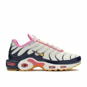 Presunción tratar con Glosario  Para mujer Nike Air Max Plus Premium Comodidad Zapatos De Color Rosa Azul  Marino CI5780-100 Talla 6   eBay