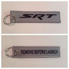 Dodge SRT Neon Hellcat  Keychain Remote Fob REMOVE BEFORE LAUNCH 2 Side Gray