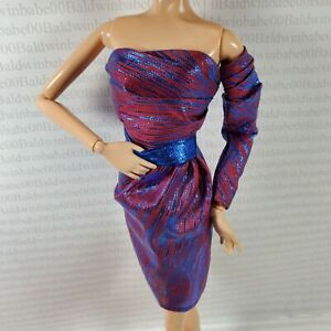 LOOK-DRESS-BARBIE-DOLL-CITY-SHINE-PURPLE-COCKTAIL-GOWN-MODEL-MUSE-CLOTHING