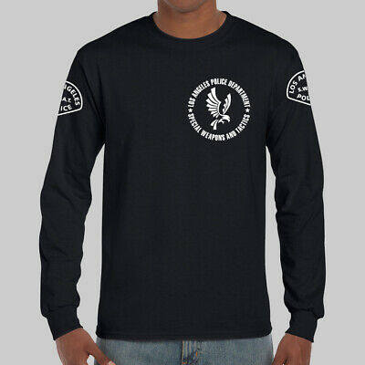 Mens K9 Canine Police Officer Swat Embroidered Long Sleeve Polo Shirts