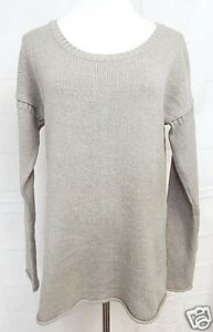 Gap-Sweater-Crew-Neck-Long-Sleeve-Gray-size-Large-Soft-Acrylic-Blend