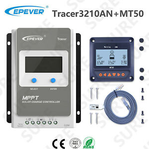 EPEVER-Tracer-3210AN-Solar-Panel-Charge-Battery-Controller-30A-MT50-Remote