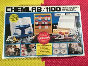 Vintage 1994 Skilcraft Chemlab 1100 Teacher Designed Chemistry Set New Sealed