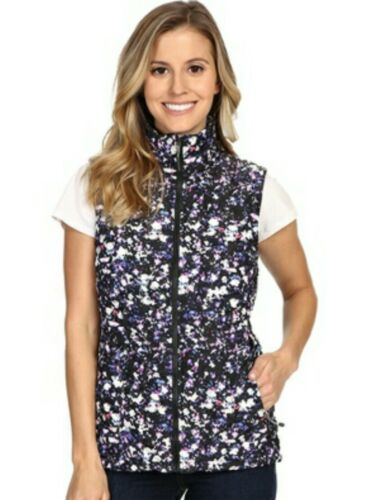 Black Face Nwt North Thermoball Quilted M The Donna Floral Vest Sz wqAFx4qYn