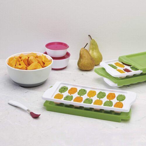 White// Green OXO Baby Food Freezer Tray