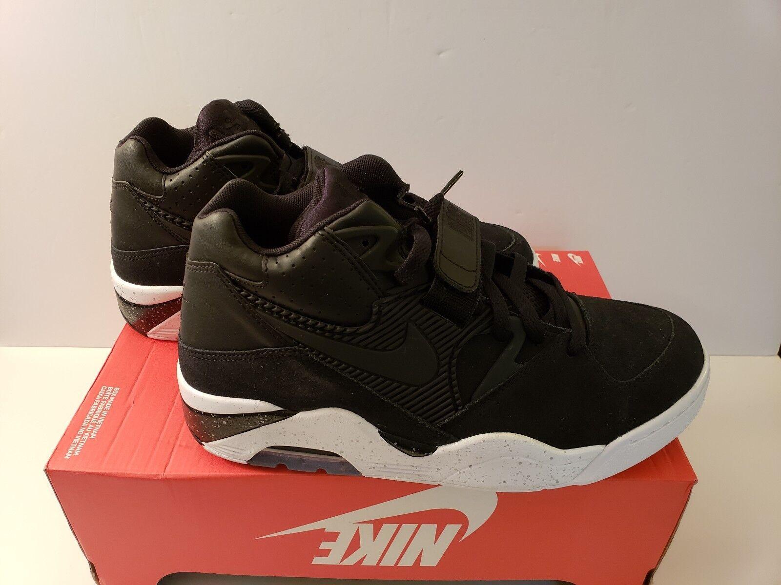 Nike Air Force 180 Basketball shoes Black-White 310095-003 Barkley Sz 9.5 & 10