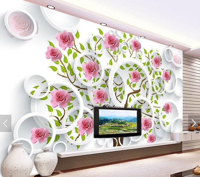 3D Flower Tree 552 Wallpaper Murals Wall Print Wallpaper Mural AJ WALL AU Kyra