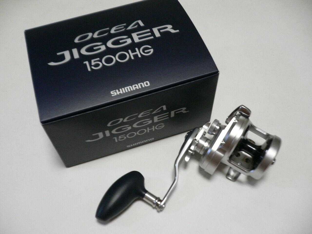 2017 Nuevo Shimano Ocea Jigger 1500HG de agua salada Cocherete de arrastre de estrellas nueva en caja