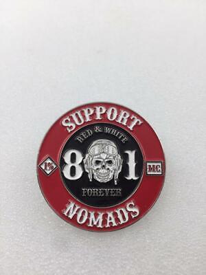 Support  81 world  1/%Angels 99/% HELLS BIKER 81 nomads METAL PIN BADGE PATCH neu