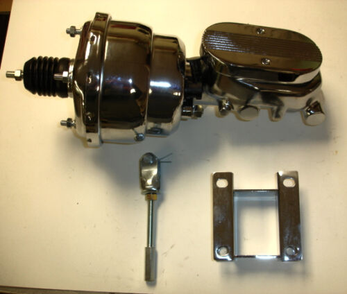 """1955-1957 Chevrolet chrome power brake booster master 7/"""" dual ball machined lid"""