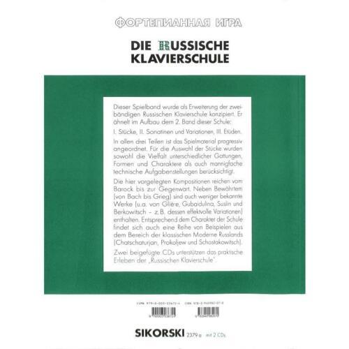 Band 3 2379A 2 CDs inkl Die Russische Klavierschule ergänzender Spielband