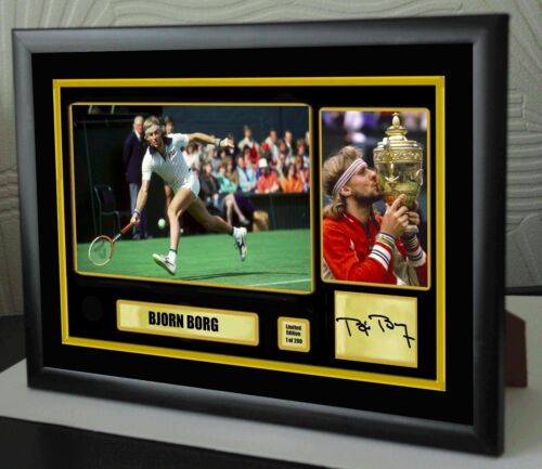 """Bjorn Borg Limited Edition Framed Canvas Tribute Print Signed /""""Great Gift/"""""""