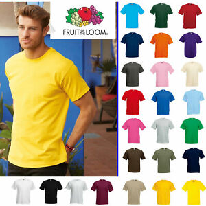 Fruit-Of-The-Loom-T-Shirt-T-Shirts-Short-Sleeve-100-Cotton-Plain-Men-Women