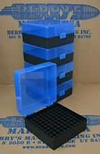 3 BLUE//BLACK 50 ROUND 223 // 5.56 BERRY/'S PLASTIC AMMO BOXES FREE SHIPPING