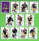 2001 MELBOURNE STORM RUGBY LEAGUE CARDS