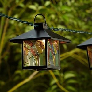 Tiffany Style Lantern String Party Lights Decorative Outdoor Patio Lamps Bistro eBay