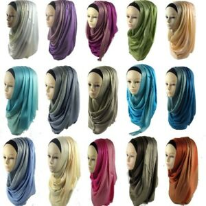 Fashion-Shimmer-Muslim-Hijab-Scarf-Wraps-Shawl-Scarves-Islamic-Gauze-Head-Cover