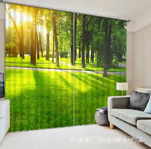 3D Forest paja Blockout impresión de fotografías Cortina Cortinas De Tela Cortinas Ventana CA