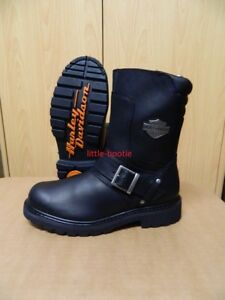 Details zu Harley Davidson Stiefel Boots schwarz Leder Herren Gr. 41 46 95194 Booker